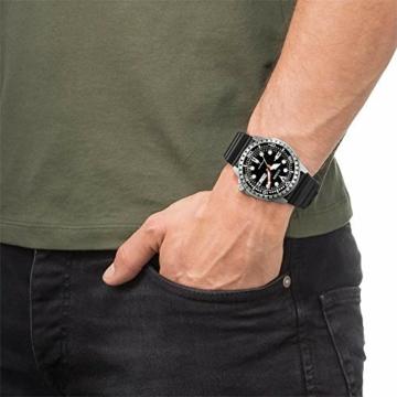 CITIZEN Herren Analog Mechanisch Uhr mit Kunststoff Armband NH8380-15EE - 2