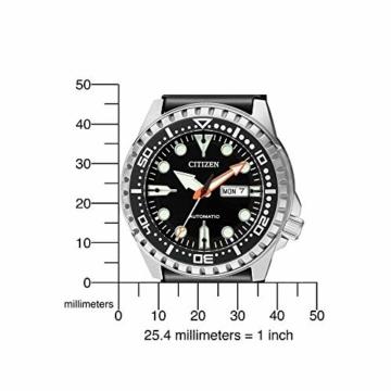 CITIZEN Herren Analog Mechanisch Uhr mit Kunststoff Armband NH8380-15EE - 5