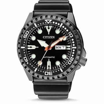 CITIZEN Herren Analog Mechanisch Uhr mit Kunststoff Armband NH8385-11EE - 1