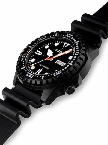 CITIZEN Herren Analog Mechanisch Uhr mit Kunststoff Armband NH8385-11EE - 4