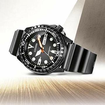CITIZEN Herren Analog Mechanisch Uhr mit Kunststoff Armband NH8385-11EE - 5