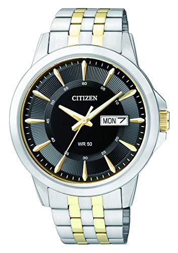 CITIZEN Herren Analog Quarz Uhr mit Edelstahl Armband BF2018-52EE - 1