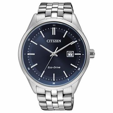 CITIZEN Herren Analog Quarz Uhr mit Edelstahl Armband BM7251-53L - 1
