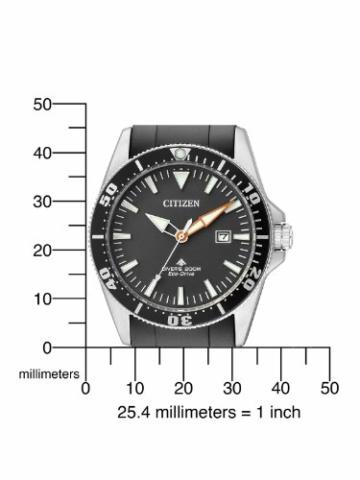Citizen Herren Analog Quarz Uhr mit Kautschuk Armband BN0100-42E - 4