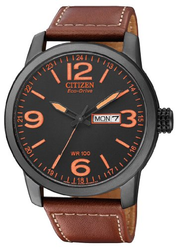 Citizen Herren Analog Quarz Uhr mit Leder Armband BM8476-07EE - 1