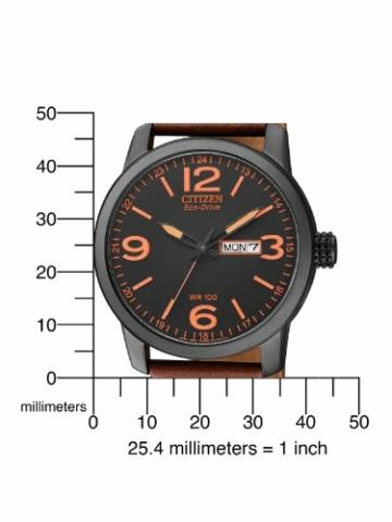 Citizen Herren Analog Quarz Uhr mit Leder Armband BM8476-07EE - 4