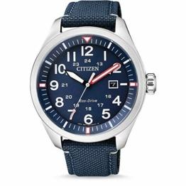 Citizen Herren Analog Quarz Uhr mit Nylon Armband AW5000-16L - 1