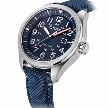 Citizen Herren Analog Quarz Uhr mit Nylon Armband AW5000-16L - 4