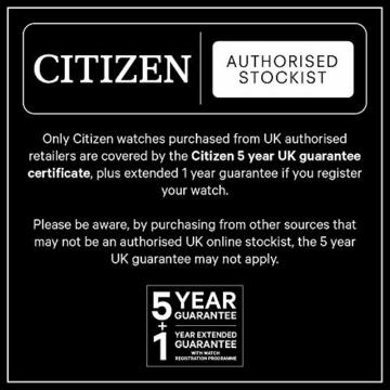 Citizen Herren Analog Quarz Uhr mit Nylon Armband AW5000-16L - 9