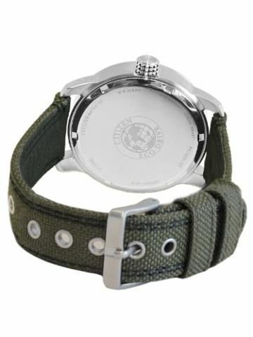 Citizen Herren Analog Quarz Uhr mit Nylon Armband BM8470-11EE - 3