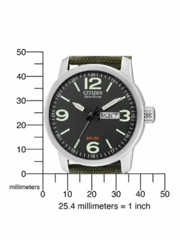 Citizen Herren Analog Quarz Uhr mit Nylon Armband BM8470-11EE - 5