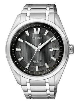 Citizen Herren Analog Quarz Uhr mit Titan Armband AW1240-57E - 1