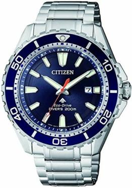 CITIZEN Herren Analog Solar Uhr mit Edelstahl Armband BN0191-80L - 1