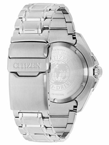 CITIZEN Herren Analog Solar Uhr mit Edelstahl Armband BN0191-80L - 2