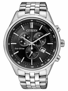 CITIZEN Herren Chronograph Quarz Uhr mit Edelstahl Armband AT2141-87E - 1