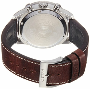 CITIZEN Herren Chronograph Quarz Uhr mit Leder Armband CA4210-16E - 2