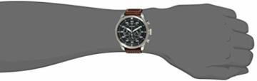 CITIZEN Herren Chronograph Quarz Uhr mit Leder Armband CA4210-16E - 4