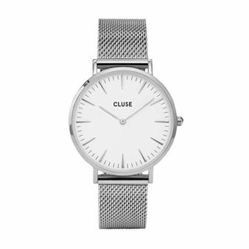 Cluse Damen Analog Quarz Uhr mit Edelstahl Armband CW0101201002 - 1