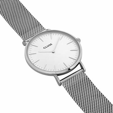 Cluse Damen Analog Quarz Uhr mit Edelstahl Armband CW0101201002 - 2