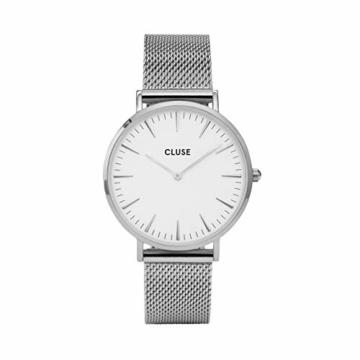 Cluse Damen Analog Quarz Uhr mit Edelstahl Armband CW0101201002 - 3