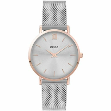 CLUSE Damen Analog Quarz Uhr mit Edelstahl Armband CW0101203004 - 1