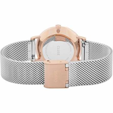 CLUSE Damen Analog Quarz Uhr mit Edelstahl Armband CW0101203004 - 3