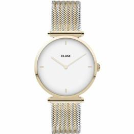 Cluse Damen Analog Quarz Uhr mit Edelstahl Armband CW0101208002 - 1