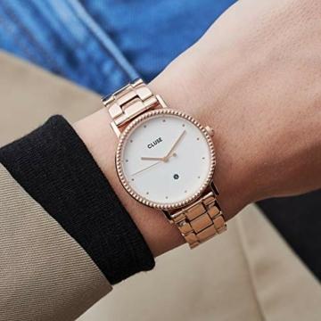 Cluse Damen Analog Quarz Uhr mit Edelstahl Armband CW0101209009 - 4