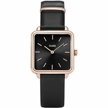 Cluse Damen Analog Quarz Uhr mit Leder Armband CL60007 - 1