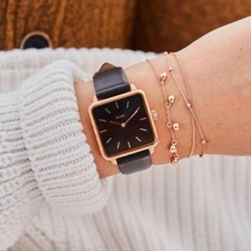 Cluse Damen Analog Quarz Uhr mit Leder Armband CL60007 - 2