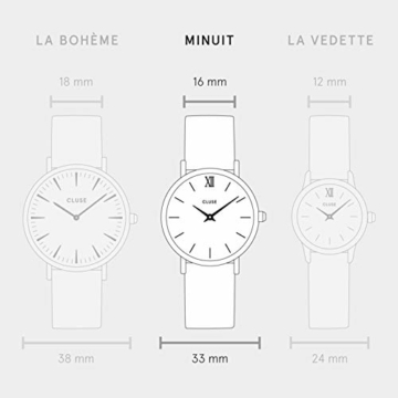 Cluse Damen Analog Quarz Uhr mit Leder Armband CL60007 - 5