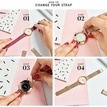 Cluse Damen Analog Quarz Uhr mit Leder Armband CL60007 - 6