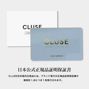 Cluse Damen Analog Quarz Uhr mit Leder Armband CW0101207027 - 7