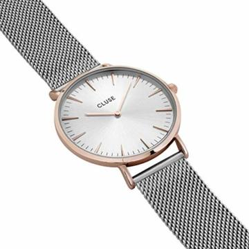 Cluse Damen-Armbanduhr Analog Quarz Edelstahl CL18116 - 2
