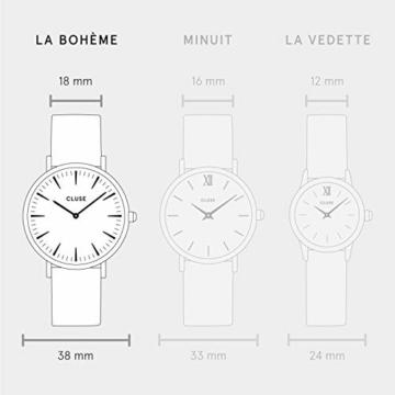 Cluse Damen-Armbanduhr Analog Quarz Edelstahl CL18116 - 5