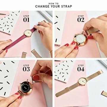 Cluse Damen-Armbanduhr Analog Quarz Edelstahl CL18116 - 6