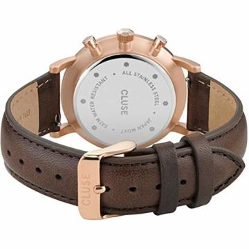 Cluse Herren-Uhren Analog Quarz One Size Braun/grün Kalbsleder 32010372 - 3