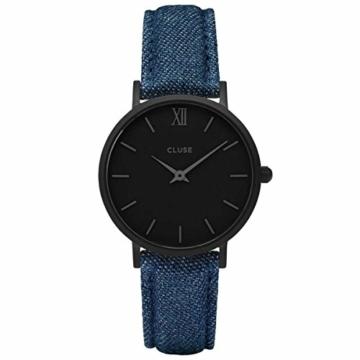 Cluse Unisex Erwachsene Digital Quarz Uhr mit Leder Armband CL30031 - 1