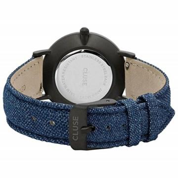 Cluse Unisex Erwachsene Digital Quarz Uhr mit Leder Armband CL30031 - 2