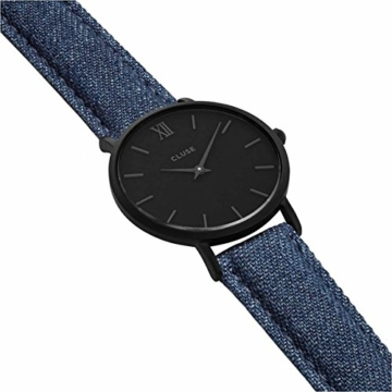 Cluse Unisex Erwachsene Digital Quarz Uhr mit Leder Armband CL30031 - 4