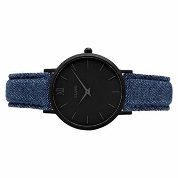 Cluse Unisex Erwachsene Digital Quarz Uhr mit Leder Armband CL30031 - 5