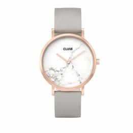 Cluse Unisex Erwachsene Digital Quarz Uhr mit Leder Armband CL40005 - 1