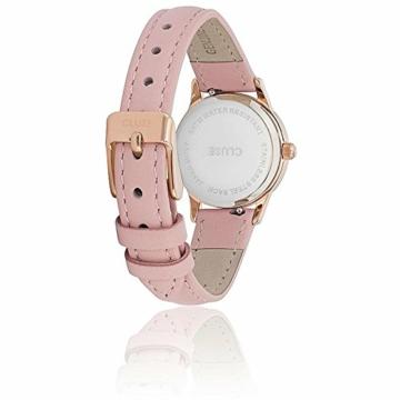 Cluse Unisex Erwachsene Digital Quarz Uhr mit Leder Armband CL50010 - 2