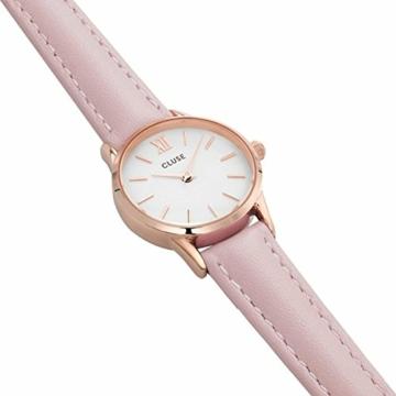 Cluse Unisex Erwachsene Digital Quarz Uhr mit Leder Armband CL50010 - 3