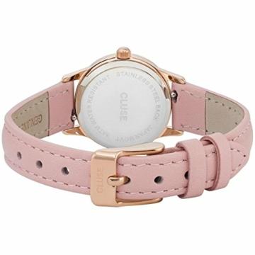 Cluse Unisex Erwachsene Digital Quarz Uhr mit Leder Armband CL50010 - 4