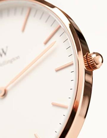 Daniel Wellington Classic Canterbury, Blau-Weiß-Rot/Roségold Uhr, 36mm, NATO, für Damen und Herren - 2