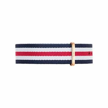 Daniel Wellington Classic Canterbury, Blau-Weiß-Rot/Roségold Uhr, 36mm, NATO, für Damen und Herren - 3