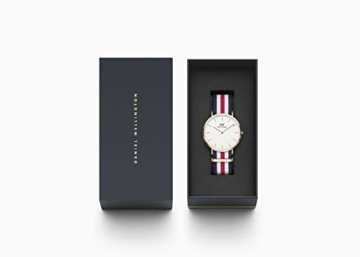 Daniel Wellington Classic Canterbury, Blau-Weiß-Rot/Roségold Uhr, 36mm, NATO, für Damen und Herren - 4