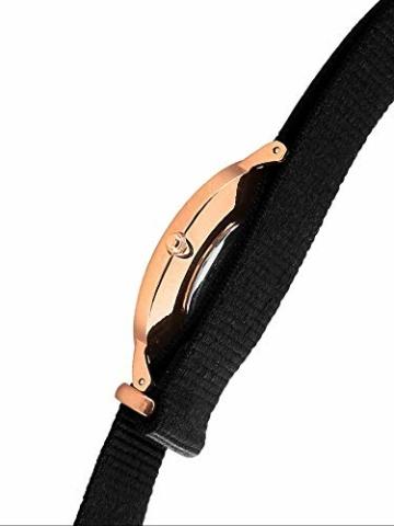 Daniel Wellington Classic Cornwall, Schwarz/Roségold Uhr, 36mm, NATO, für Damen und Herren - 3