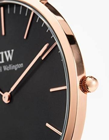 Daniel Wellington Classic Cornwall, Schwarz/Roségold Uhr, 40mm, NATO, für Herren - 2